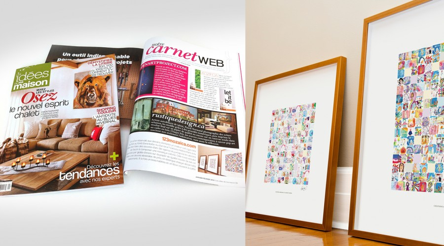 La revue Les idées de ma maison recommande les galeries Mozaica