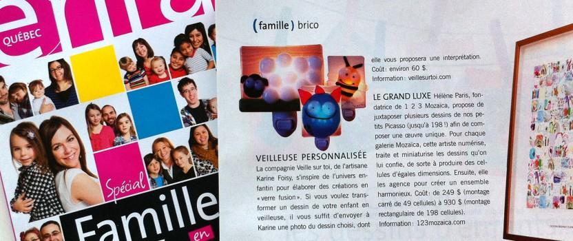 La revue Enfants Québec mai-juin 2014 propose 123Mozaïca